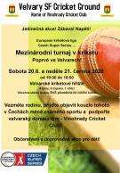 Mezinárodní turnaj v kriketu poprvé ve Velvarech 20. - 21. 6. 2020 1
